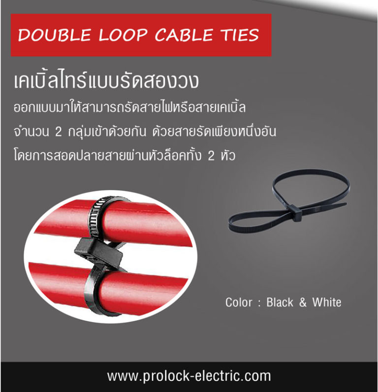 DOUBLE LOOP CABLE TIE BLAC